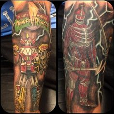 Might Morphin Power Rangers epic tattoo!! Dig it!! #JDF