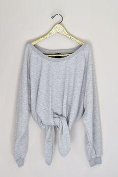 Katie Tie Sweatshirt - Grey