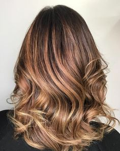 Medium Caramel Ombre Hair
