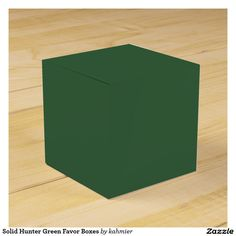 Sold 10 Solid Hunter Green Favor Boxes