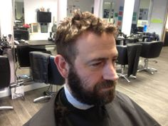 barbering model - before hair cur & beard trim at ALD Hair & Beauty Academy Gateshead