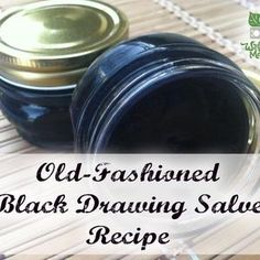 Black Drawing Salve Recipe...I don't know if I'll make it but good to have in case