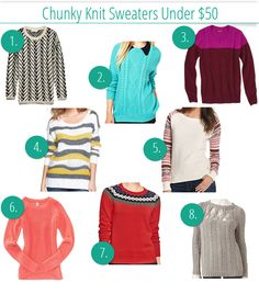 Cozy up with these great sweaters - all under $50 each, and perfect when worn with Signature by Levi Strauss & Co.™ Modern Boot Cut jeans!