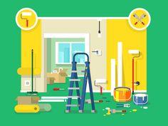 Renovation+apartment+flat+design.+Room+in+home,+new+interior.+Vector+illustrationVector+files,+fully+editable.