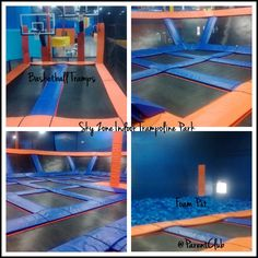 I am going for the 5th time today!!! The trampolines are so bouncy!! and yes, they do have trampoline dodgeball ;).