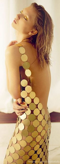 Irina Funtikova by Timmothy Lee - gold glamour mermaId