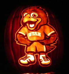 U of U Pumpkin made by Ken Klinker. You can buy this design and more! #universityofutah #halloween