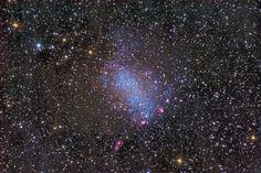 NGC 6822: Barnard's Galaxy  Image Credit & Copyright: Stephen Leshin  Collaboration: Deidre Hunter and LARI