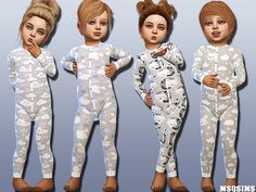 The Sims 4 Toddler Body Collection 01 Sims 4 Toddler Clothes, Sims 4 Cc Kids Clothing, Sims 4 Mods Clothes, Sims Mods, Toddler Girl Outfits, Kids Outfits, Toddler Fashion, Toddler Girls, Girl Fashion