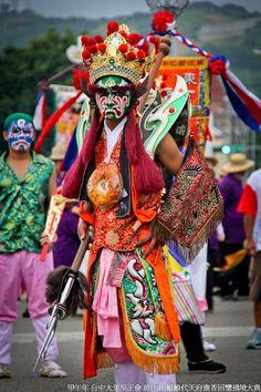 官將首(Guan jiang shou),the God's pioneer of temple activities, #Taiwan.