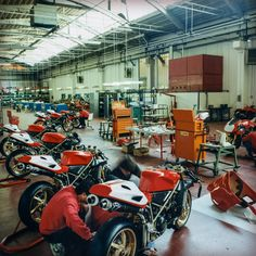Beauty being crafted in Bologna. (ducati 90th celebration)