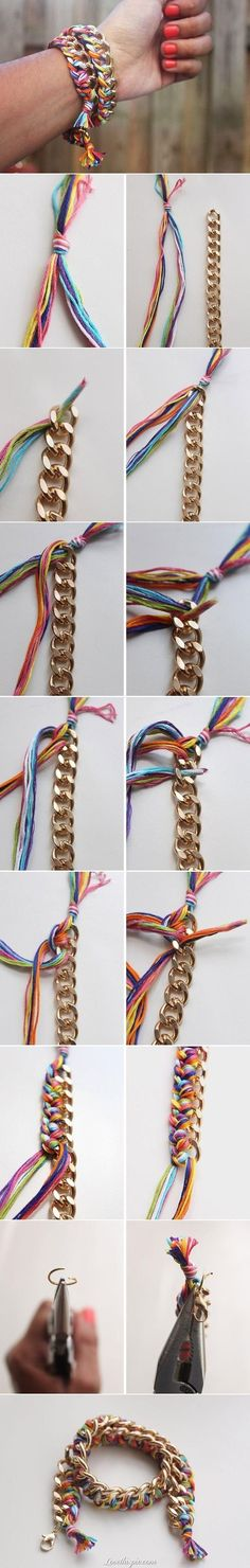 DIY Colorful Summer Bracelet bracelet