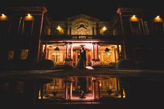 eaves hall dramatic wedding photography at night