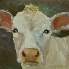 Cow Art Print - Sassy - Canvas Giclee Reproduction of Original Painting by Cheri Wollenberg Cow Paintings On Canvas, Animal Paintings, Oil Paintings, Cow Pictures, Pictures To Paint, Cow Photos, Purple Cow, Cow Art, Thing 1
