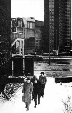 Joy Division near Manchester Cathedral, 6 January photo by Kevin Cummins Ian Curtis, Joy Division, Pop Rock, Rock N Roll, Music Icon, My Music, Factory Records, Best Guitar Players, Architecture Design