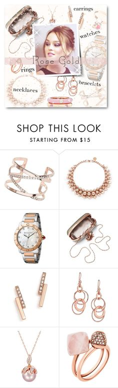 """""""So Pretty: Rose Gold Jewelry"""" by matildiwinky ❤ liked on Polyvore featuring Dorothy Perkins, Ellen Conde, Bulgari, Maiden-Art, ZoÃ« Chicco, Ippolita, Michael Kors and Adolfo Courrier"""
