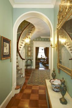 For Sale: 812 Park Ave. in Lenox Hill 812 Park Avenue foyer & entryway and Victorian Interiors, Modern Victorian, Victorian Decor, Victorian Gothic, Victorian Homes, Beacon Hill Dollhouse, Gothic Interior, Foyer Decorating, Decorating Ideas