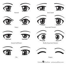 Anime eyes emotions and expressions. anime eyes emotions and expressions cartoon drawings, easy manga Realistic Eye Drawing, Manga Drawing, Manga Art, Drawing Faces, Anime Art, Anatomy Drawing, Drawing Skills, Drawing Techniques, Drawing Tips