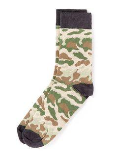 Khaki Camouflage Socks - Mens Socks  - Clothing