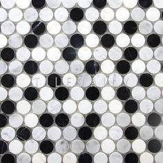Penny Tile, Mosaic Tiles, Backsplash Tile, Marble Stones, Flooring, Shower Pan, Kitchen Tile, Brainstorm, Bathroom