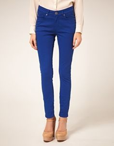 Oasis Colored Cherry Jeans - StyleSays
