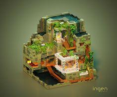 Brilliant voxel modeling by Tsvyatko Yakimov Minecraft House Designs, Minecraft Creations, Minecraft Crafts, Minecraft Architecture, Minecraft Buildings, Minecraft Marvel, Voxel Games, Cube World, Cool Pixel Art