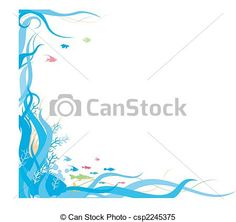Free Ocean Borders | Clipart Vector of ocean theme frame background csp2245375 - Search ...