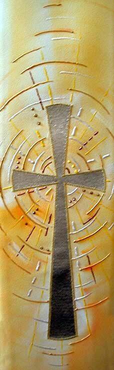 White stole design light burst cross