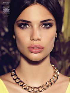 Smokey eyes, strong brows, nude lips. Sara Sampaio by Nelson Simoneau for Be May 2013