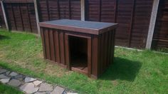 Dog Kennel From Repurposed Pallets #DogKennel, #Garden, #RecycledPallet