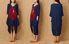 Chalecos - Mujeres Hi-Low Hem Vestido de tirantes - hecho a mano por MissJuan en DaWanda