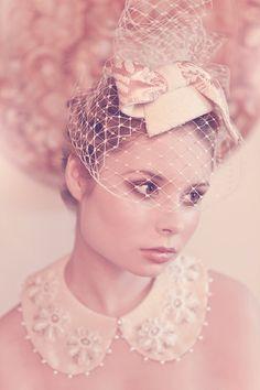 hellostrumpet. Bridal cocktail hat in wool tweed