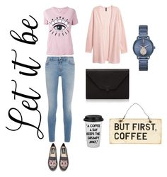 """""""Break coffee"""" by veleang on Polyvore featuring Givenchy, Kenzo, H&M, Valextra and MICHAEL Michael Kors"""