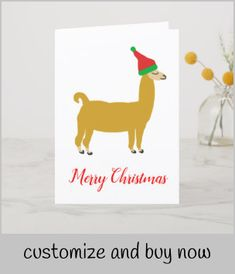 Shop Family Christmas Llama Postcard created by QuirkyNature. Personalize it with photos & text or purchase as is! Llama Christmas, Family Christmas Cards, Funny Christmas Cards, Christmas Humor, Holiday Cards, Diy Pillows, Custom Pillows, Cute Llama, Christmas Card Template