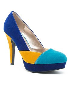 6d8f4f378077b Another great find on  zulily! Royal Blue Mosaic Pump by Qupid  zulilyfinds