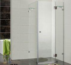 Frameless rectangle shower Shower Rail, Frameless Shower, Brass Fittings, Bathroom Renovations, Bathrooms, Wall Brackets, Safety Glass, My New Room, Glass Shelves