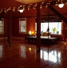 Beautiful yoga space