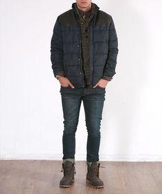 Camisa Cuadro Alfiler 14,99€* / Punto Cuello Esmoquin 15,99€* / Cazadora Hombros Combinados 39,99€* / Pantalón Nix Blue 19,99€* // *p.v.p. final #moda #fashion #look