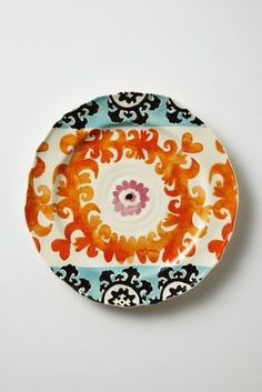 Evita Dessert Plate, $12, A few of these with some linen napkins would be a great hostess gift.