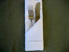 Folding a Napkin Into a Simple Pocket - Napkin Fold Tutorial