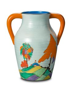 A Clarice Cliff 'Caprice' two-handled lotus jug, English, circa… - Cliff, Clarice - Ceramics - Carter's Price Guide to Antiques and Collectables