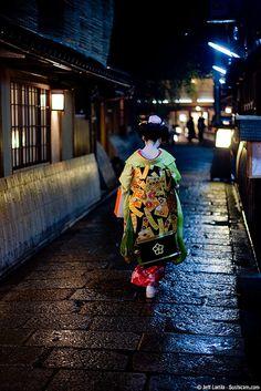 Gion at night: #Kyoto, #Japan