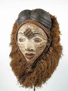 Punu maiden mask from Democratic Republic of Congo Gabon (Gotham Gallery of African Art)