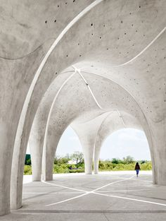 "Lake Flato creates pavilions with concrete ""petals"" for San Antonio's Confluence Park Concrete Architecture, Sustainable Architecture, Residential Architecture, Landscape Architecture, Architecture Design, Ancient Architecture, Architectural Engineering, Architectural Elements, Dubrovnik"