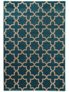 Lovely benuta Teppiche Teppich Arabesque Teppich Arabesque Blau x cm Pr fsiegel schadstofffrei Flormaterial