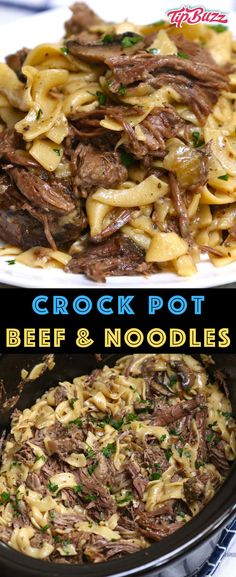 Beef And Noodles Crockpot, Crockpot Dishes, Crock Pot Cooking, Beef Dishes, Healthy Crock Pot Meals, Slow Cooked Meals, Fast Crock Pot Recipes, Beef Crock Pots, Dinner Crockpot Recipes