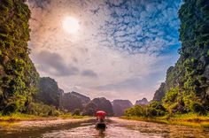 """THE 'GREEN SEA' OF TAM COC"" *** Tam Coc is also known as ""Halong Bay on the land"" for its landscapes that have many points in common with the bay that overlooks the ocean…"