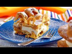 Polish Recipes, Polish Food, Cream Cake, Apple Pie, Waffles, French Toast, Breakfast, Mountain, Custard Cake