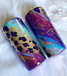 Excited to share this item from my shop: Gypsy leopard tumbler Vinyl Tumblers, Custom Tumblers, Personalized Tumblers, Girls Tumbler, Tumbler Cups, Diy Resin Art, Resin Crafts, Glitter Cups, Glitter Tumblers