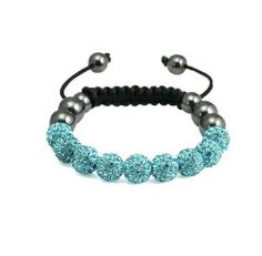 Crystal Disco Multi Shamballa Ball beads Macrame Bracelet dream jewelry  2012.  4.66. Crystal bcc783bda68
